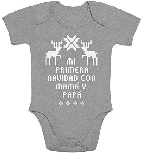 Regalos bebé - Mi primera navidad con mamá y papá Body bebé manga