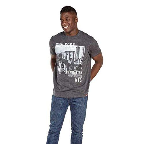 D555 Herren T-Shirt Dunkelgrau Melange