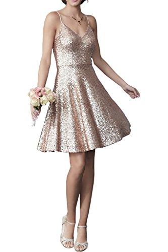 Victory Bridal 2016 Neu Modern Spaghetti-traeger Hrzausschnitt Abendkleider Cocktailkleider Promkleider Mini Rock Rosa