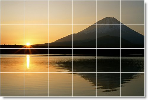 SUNSET FOTO COCINA TILE MURAL S003  24X 36PULGADAS CON (24) 6X 6AZULEJOS DE CERAMICA