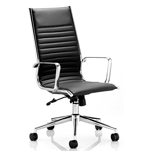 dynamic-ritz-executive-bonded-leather-high-back-chair-with-arms-black