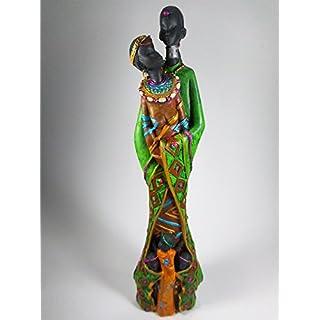 Massai Familie 25 x 6 cm Afrika Style Kunst Figur Deko GCG C3