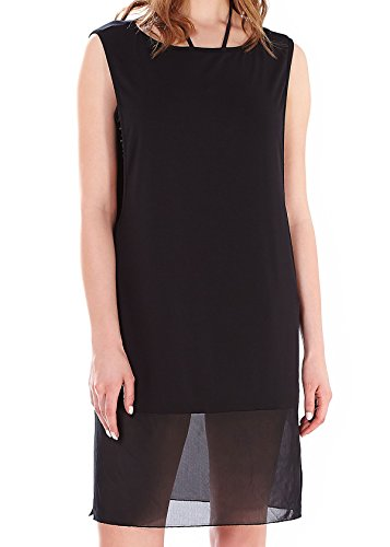 Freya Firestar Jersey Dress - Sheer Panels in Black (AS3480) *Sizes XS-XL* (Freya-jersey)