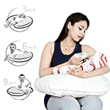 Lulamom Portable Comfortable Nursing Pillow for Mom & Baby- Allergen Protected Especially for Breastfeeding