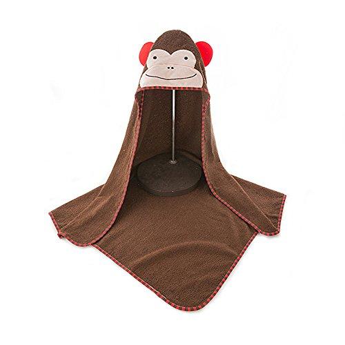 Baby Badetuch, Morbuy niedlichen Tier 100% natürliche Baumwolle weiche Toilettenpapier für Baby Dusche nach Bad Kuscheln 'n trocken, große 90 * 90cm Größe (Affen)