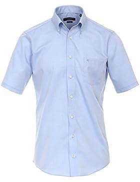 CASAMODA Modern Fit Hemd Halbarm Uni hellblau 008563/10
