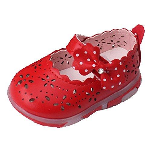 Ohmais Enfants Chaussure Bebe Garcon Fille Premier Pas Chaussure premier pas bébé Sandale Rouge
