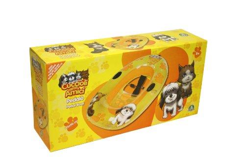 Pedalo' canotto gonfiabile per bambini giochi cuccioli cerca amici 135x90 cm giochi preziosi 079889