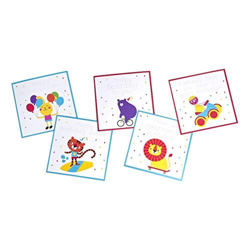Love Writing Co Glückwunschkarten zum Üben von Handschrift, 10 Stück, 2 Personalisierte Schreibkarten für Kinder im Alter von 3-8 Jahren