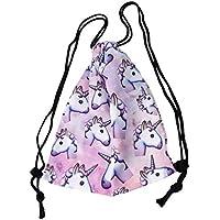 Ndier Unicorn patrón cordón Gimnasio Mochila Bolsa para Regalo para Las niñas Mujeres Poliéster Escuela Viaje Hombro Mochila, Mujer