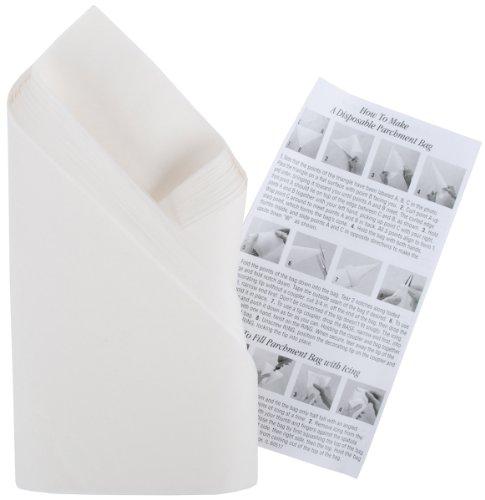 Wilton 2104-1508 - Pack de 100 triángulos de papel pergamino para mangas, 37,5 cm width=