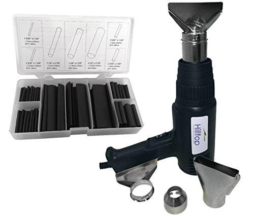 Preisvergleich Produktbild Heißluftpistole Bundle Angebot–Commercial Heißluftgebläse mit 127pc schwarz Schrumpfschlauch Kit