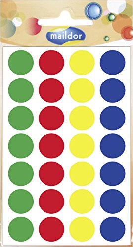 Clairefontaine-560799-C-15-mm-rund-Bro-selbstklebend-Aufkleber-verschiedene-Farben-Pack-von-6-Blatt
