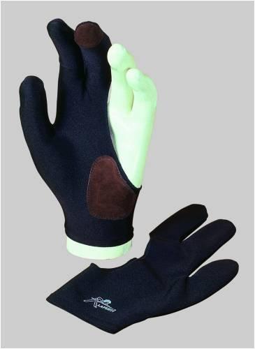 Billardhandschuh Laperti mit Leder für linke Hand