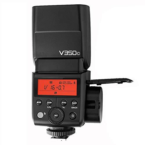 Godox V350C TTL Kamera Blitz High-Speed-Sync Max 1 / 8000s mit integriertem 2.4G Wireless System und 7.2V 2000mAh Li-Ion Akku für Canon DSLR mit NAMVO Diffusor (High-speed-kamera-blitz)
