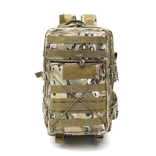 60L Wandern Rucksack mit Molle Tasche / Militär Tasche / Militär Rucksack / Rucksack Uniform / Camping taktischen Rucksack (Camouflage / schwarz / ACU / khaki) , A (Militärische Camouflage-uniformen)