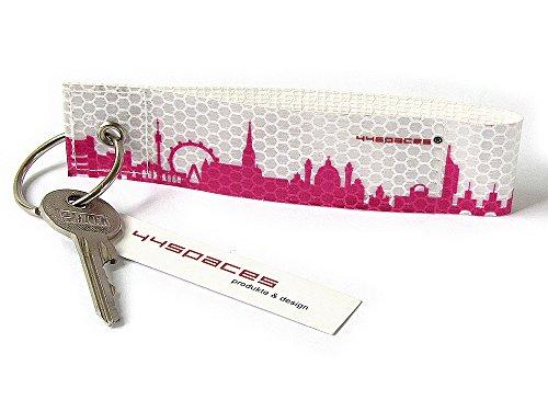 Preisvergleich Produktbild WIEN CITY KF REFLEX von 44spaces - Pinker Schlüsselanhänger aus reflektierender Folie