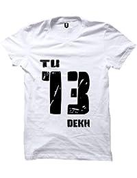 efc5d61a Uniplanet Store Tu Tera Dekh White T-Shirt | Cotton T Shirt