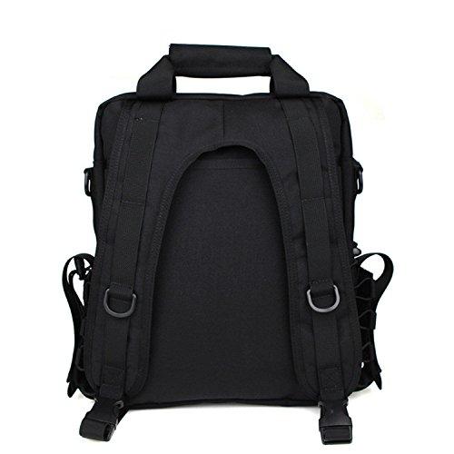 Mefly Taktische Armee Fan Rucksack Tasche Tasche Outdoorblack black