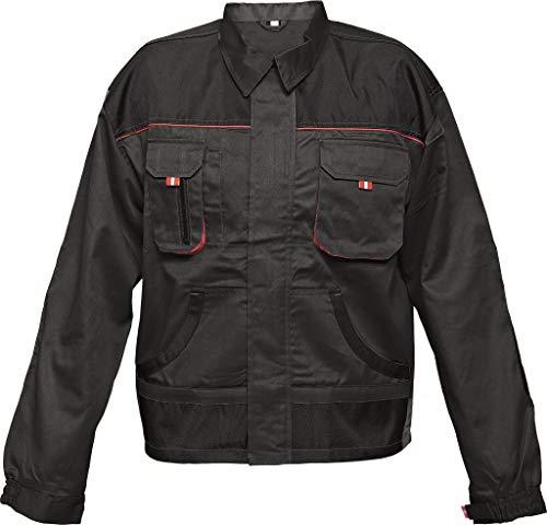 Stenso Des-Emerton® - Chaqueta de Trabajo Multiusos - Codos Reforzados - Negro - 52