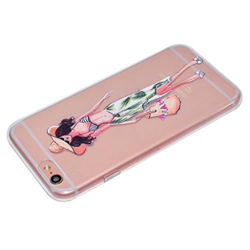 Per iPhone 6 Plus / iPhone 6S Plus Cover , YIGA mondo ragazza Sottile Cristallo Chiaro Case Trasparente Silicone Morbido TPU Custodia per Apple iPhone 6 Plus iPhone 6S Plus (5.5) TT17