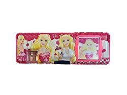 Multipurpose Pencil Box with calculator & dual sharpner - Barbie (Color May Vary)