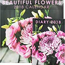 New calendar and diary set 2018 beautiful flowers this will make a great christmas gift