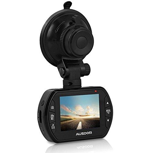 Ausdom AD170 - Cámara vigilancia para coches (2.0 MP, sensor CMOS, grabación automática de detección de movimiento, modo aparcamiento), color negro