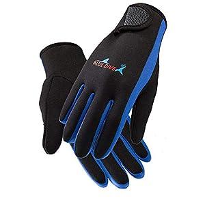 AmyGline 1.5mm Neoprenhandschuhe Tauchen Surfen Speerfischen Schnorcheln Warme Handschuhe Mode