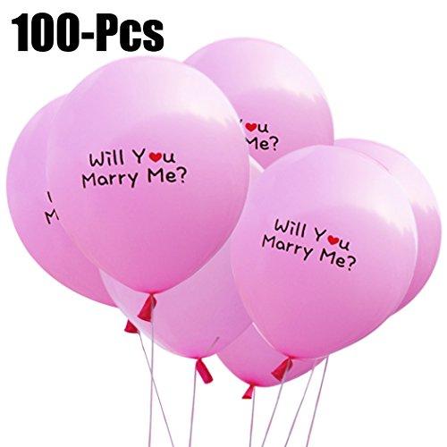 100Pcs Brief Ballon Willst Du Mich Heiraten Zeichen Hochzeit Ballon Valentines Ballon ()