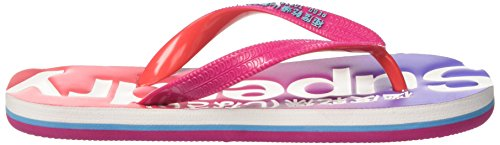 Superdry Faded, Tongs Femme Multicolore (Fuschia/Poppy Red/Iris)