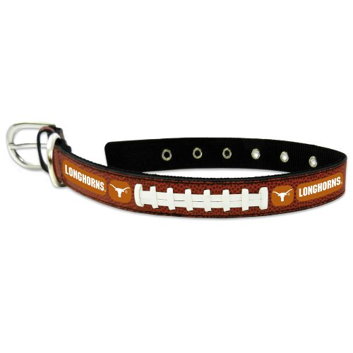 NCAA Texas Longhorns Classic Leder Fußball Halsband, groß (College-lanyards)