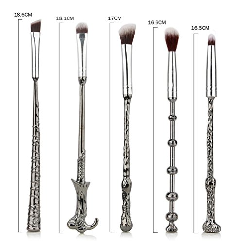 Fashion Base� 5PCS/SET Metal Handle Wand Makeup Brushes Set Eyeshadow Eyebrows Nose Blending Brushes Kabuki Make up Brush