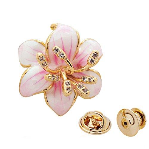 Mini Kleid Mit Strass-schnalle (Mode Kleine Kirsche Brosche Nachahmung Zirkon Mini Kragen Kragen Weiblich Temperament Wildhemd Brosche Bekleidungszubehör,Pink-OneSize)