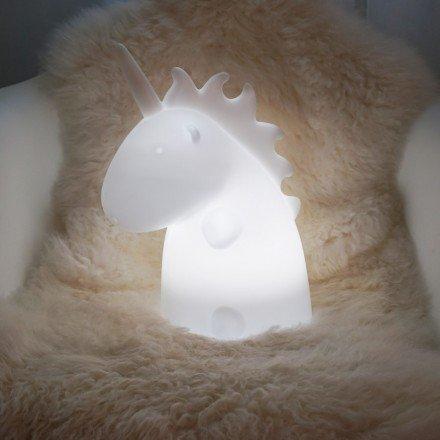 Junior Lampe weißes Einhorn, mehrfarbig–Uni The Unicorn–Smoko INC (Junior Einhorn)