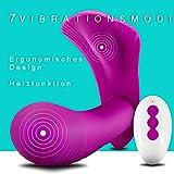 Tragbare Vibratoren für Sie Klitoris und G Punkt Vibrator mit Heizfunktion Butterfly Vibratoren mit Fernbedienung Sexspielzeug für Frauen mit 10 Vibratioinsmodi Aufladbar und Wasserdicht