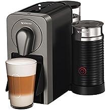 Nespresso Krups Prodigio & Milk EN 170S-Cafetera de cápsulas, 19 bares, conectividad, bluetooth, controlable con smartphone, color Titan
