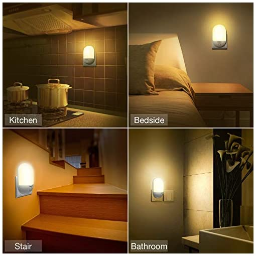 Night Light LED Lamp Plug in With Auto Dusk to Dawn Sensor for Bedroom Hallway