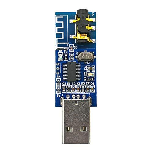 DIY Kits für Arduino, LDTR-WG0201 USB Bluetooth 4.0 Audio-Empfänger Funkmodul Bluetooth Voice Player mit Decodierungsverstärker-Funktion LED-Anzeigetafel Arduino Zubehör - Audio Voice Bluetooth