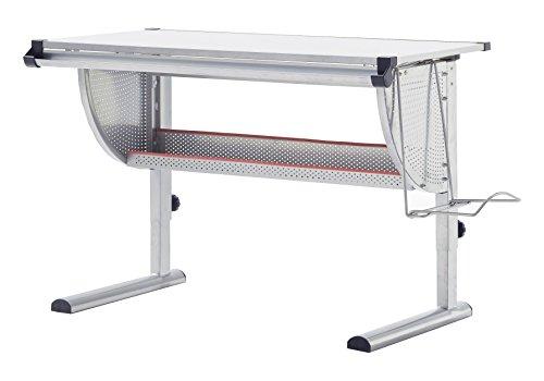 Robas Lund 40051GS2 Schreibtisch, für Kinder, höhenverstellbar, 60 x 118 x 93 cm, hellgrau