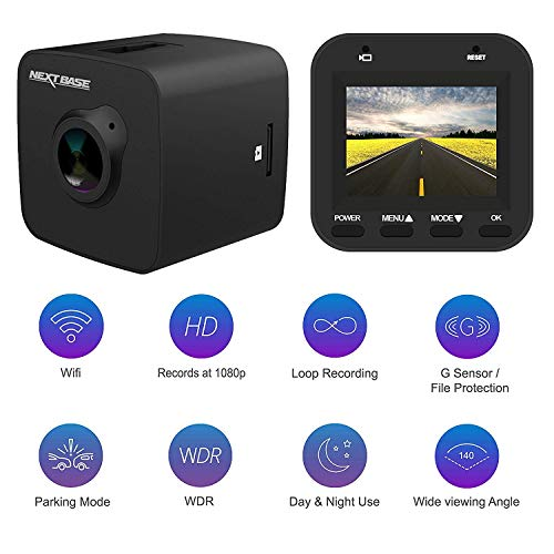 Nextbase Dash cam 3052 Full 1080p HD Car Dash camera DVR -140° Viewing Angle- G Sensor, Motion Detection, LCD 1.5 inch, GPS, WIFI, SD card, Day and Night, Parking mode, Car DVR, dash cam for cars