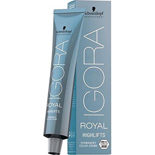 Schwarzkopf IGORA Royal Highlifts 10-14 ultrablond cendre beige 60 ml Haarfarbe für kühle und silber-blonde Nuancen