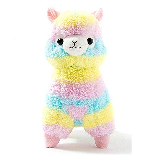 Bambola di alpaca arcobaleno peluche bambino farcito giocattolo san valentino compleanno natale di natale regali di anniversario di matrimonio regali, 13 cm / 5.1 in