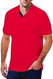 Santhome Cotton Polo Shirt for Men - Black/Dark Melange