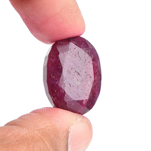 (Africa Mines Roter Rubin-Edelstein 27.00 Ct Egl-zertifizierter Roter Rubin, Perfekter Ovalschliff Roter Rubin Lose Edelstein)