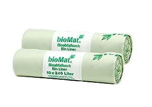 Inlineabfallsack/bioabfallsack 240 litres biotonne 10, stk.