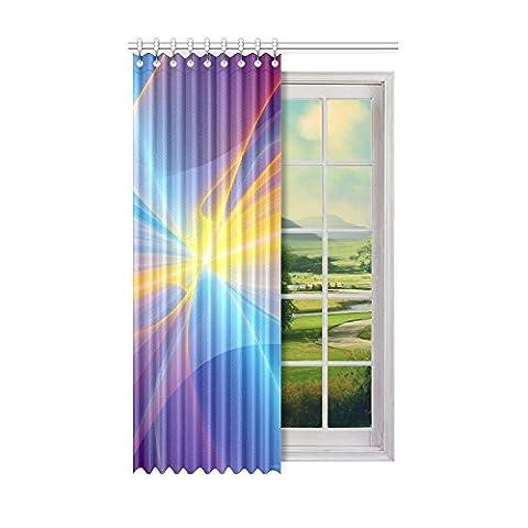 Custom Noir et papillon (1) Rideau de fenêtre 132,1cm (L)
