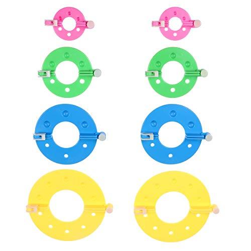 STOBOK Pompon Makers 4 Größen Pom Pom Maker für Flusen Ball Waver Nadel Handwerk DIY Wolle Garn Häkeln Stricken 8 stücke (Zufällige Farbe)