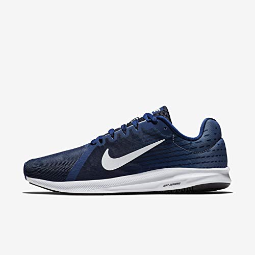 NIKE Men's Downshifter 8 / Blue Void/Pure Platinum/Ashen Slate Running Shoes (908984-404)
