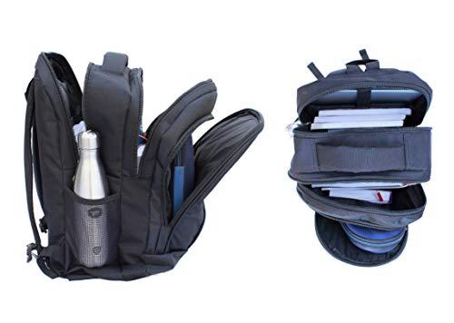 DEIN KLEIDER Unisex 40 L Large Capacity Casual/School/Laptop Backpack (Black) Image 4